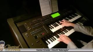 """Hino 8 """"Adoração"""" (Cantor Cristão) Órgão YAMAHA EL90"""