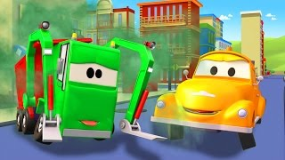 Tom The Tow Truck and Gary the Garbage Truck in Car City | Trucks construction cartoon for children
