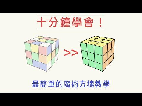 【魔術方塊教學#1】 十分鐘就能學會,復原3x3竟然這麼容易? 快速破解並不難! | 雙公式基本解 | 一小時學盲解 - YouTube