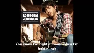Chris Janson- When I'm Holding Her  LYRICS