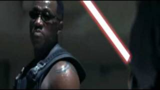 Blade Vs Deacon Frost [Lightsaber Battle]