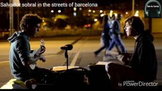 Salvador sobral in the streets of Barcelona