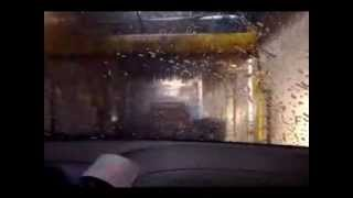 Driving through  Suds Carwash