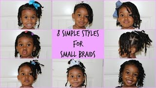 Easy Hairstyle for Small Braids |  Hairstyle for Kids