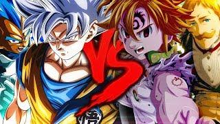 Goku e Vegeta VS. Meliodas e Escanor   Combate de Rimas   Part. Snow