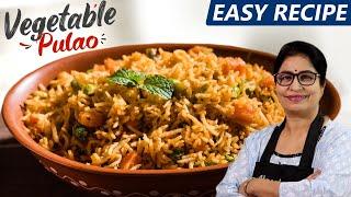 कुकर में पुलाव बनाने की सही ट्रिक देखकर कहेंगे काश पहले पता होता // Vegetable pulao Recipe //