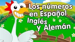 Canción de los números del 1 al 10 en español, inglés y alemán - canciones infantiles