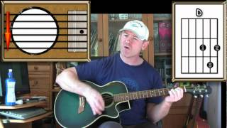 Proud Mary - Creedence  Clearwater Revival - Acoustic Guitar Lesson (Easy)