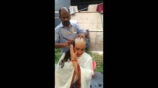 Indian Girl Headshave - Ashmita Patma Navan headshave as a vow width=
