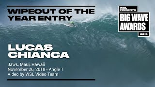 Lucas Chianca at Jaws 1 - 2019 Wipeout of the Year Entry - WSL Big Wave Award