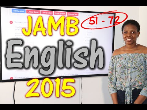 JAMB CBT English 2015 Past Questions 51 - 72