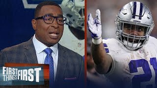 Cris Carter says Zeke shouldn't hold out, talks Gronk and Patriots | NFL | FIRST THINGS FIRST