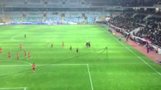 Kayseri-Galatasaray 2-4 Drogba'nın İlk Frikik Golü Tribün Çekimi