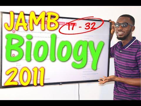 JAMB CBT Biology 2011 Past Questions 17 - 32