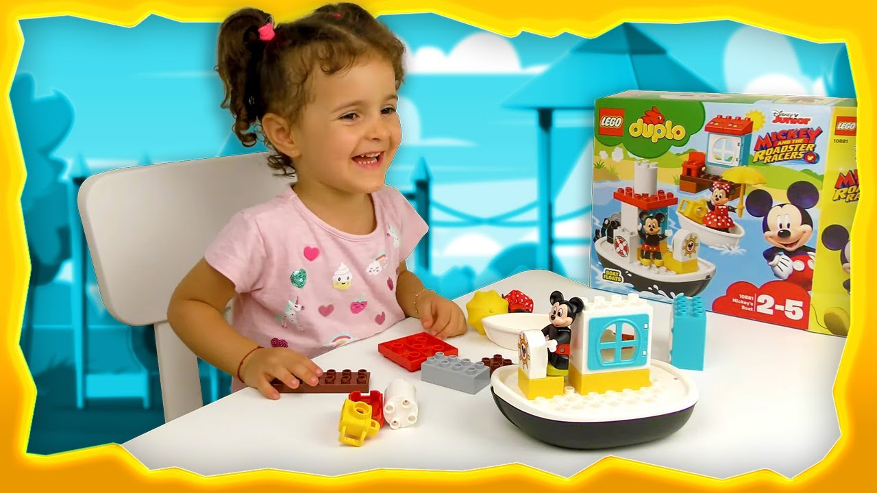 Sara Playing With LEGO Duplo Disney Junior Mickey Mouse