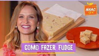 Fudge de chocolate branco com nozes: aprenda a fazer docinho para chá de bebê   Fazendo a Festa