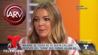 Marjorie de Sousa lloró y arremetió contra Julián Gil | Al Rojo Vivo | Telemundo