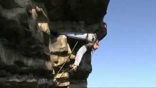 Boris climbing Supper's ready 5.12a
