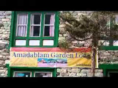 AAA NEWS 2011/4/12 Ama Dablam Garden Lodge at Debuche / Everest Trekking View