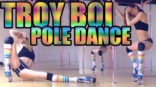 "Pole Dancing to Troy Boi ""Do You?"" // Exotic Beginner Choreo"