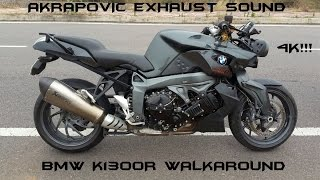 BMW K1300R Walkaround/Akrapovic Exhaust Sound In 4K!!!