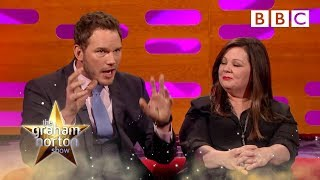 Melissa McCarthy and Chris Pratt's first head shots | The Graham Norton Show - BBC