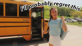 """a """"i'm done with high school"""" vlog 