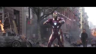 Avengers Infinity war Iron man suit up scene in slow motion | Nanotech