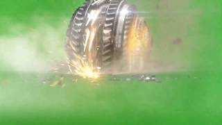 GREEN SCREEN FOOTAGE SPACE ATTACK 3D ANIMATION EXPLOSION