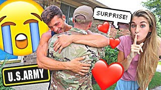 Surprising My Boyfriend With His Best Friend *MILITARY HOMECOMING*