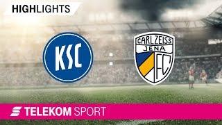 Karlsruher SC - FC Carl Zeiss Jena   Spieltag 4, 18/19   Telekom Sport