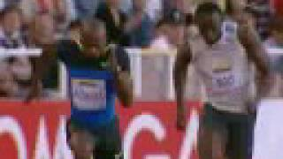 Powell Defeats Bolt in Stockholm width=