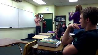 Blasting USSR ANTHEM IN CLASS