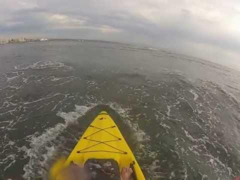 Fluid Bamba Kayak Second return to beach Durban GoPrp