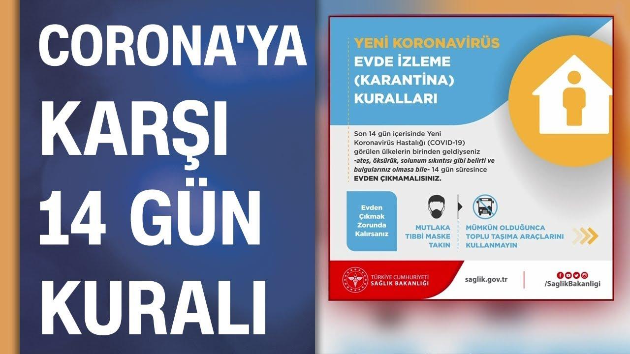 Koronavirüse karşı 14 gün kuralı: Sağlık Bakanlığı evde yapılması gerekenleri açıkladı