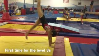 Handstand flatback body tension drill for level 3 vault
