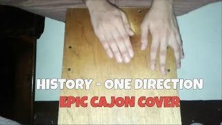 One Direction - History (Cajon Cover) MADE EASY