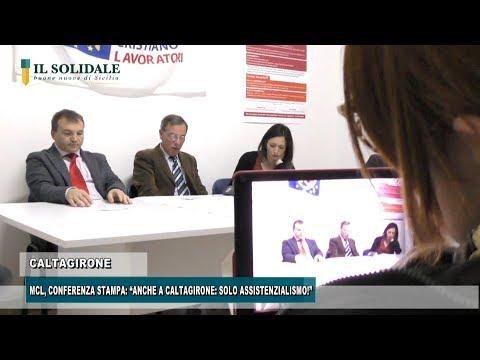 """Video: MCL, CONFERENZA STAMPA: """"ANCHE A CALTAGIRONE: SOLO ASSISTENZIALISMO!"""""""