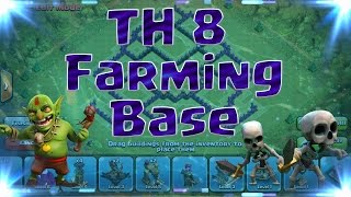 Really Good Town Hall 8 Farming Base (TH8) - Clash of Clans (CoC) - 4 Mortars/2015