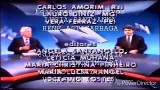 Encerramento do Jornal Nacional em 1990