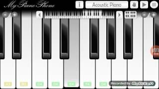 Happy Birthday tune in mobile Piano