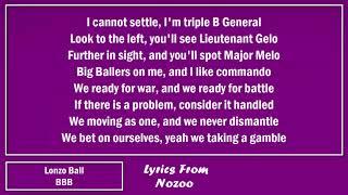 Lonzo Ball - BBB (Lyrics)