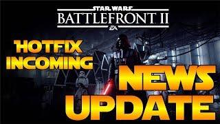 Star Wars Battlefront 2 | News Update | Hotfix Incoming, New Hero Showdown Maps