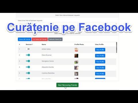 Șterge datele Facebook în siguranța - like-uri, postări, grupuri, pagini, prieteni, etc