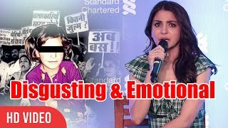 Anushka Sharma Kohli Speaks On #Asifa Bano Case | It's So Disgusting & Emotional width=