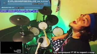 Surfaris - Wipe Out | Live Drum Cover on Twitch