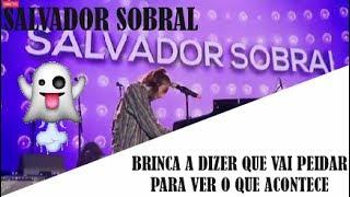 Salvador Sobral diz que vai peidar em concerto