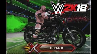 WWE 2K18 Triple H Doing American Badass Entrance