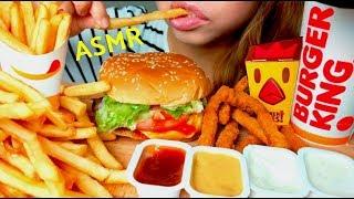 *No Talking* ASMR Burger King WHOPPER 🍔🍟 Mukbang 먹방 French Fries & Chicken Fries