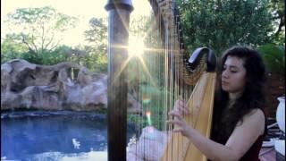 """Under The Sea"" by Alan Menken | Harp Cover"